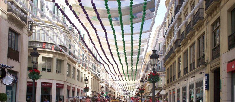 Malaga, Feria de Agosto in Calle Larios
