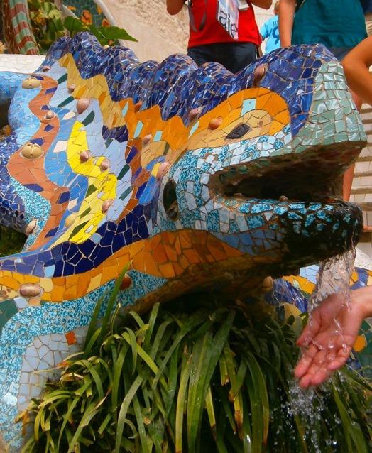 La famosa salamandra di Parc Güell