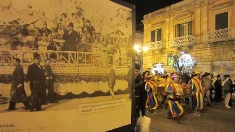 La mostra temporanea sul Carnevale di Putignano, sul Corso Umberto I