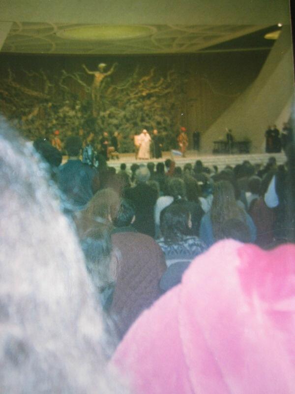 L'incontro con Giovanni Paolo II nel 1995