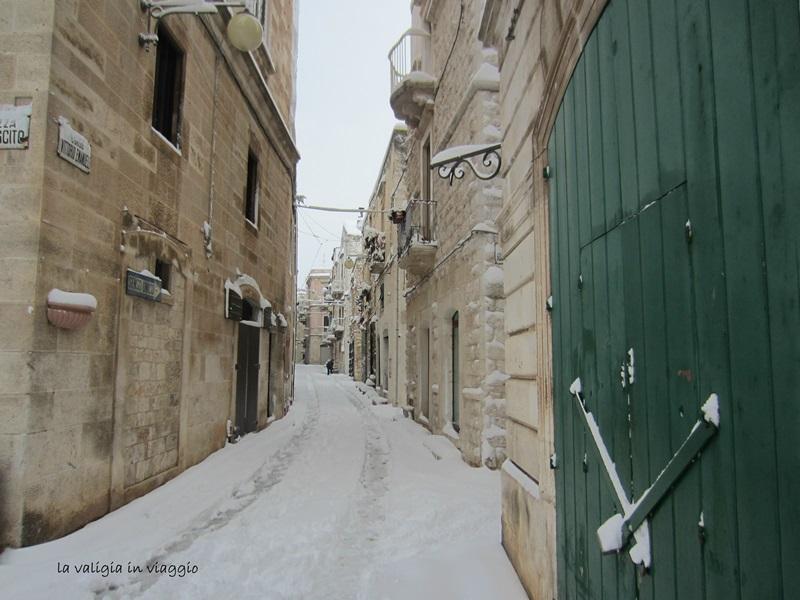Fiocchi di neve a Putignano