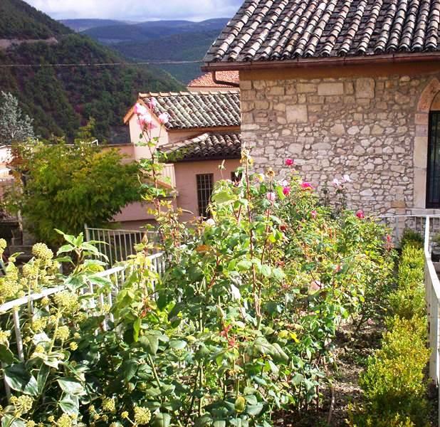 Cascia, Rose nel Monastero di Santa Rita